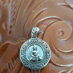 Jewelry - Buddha pendant, sterling